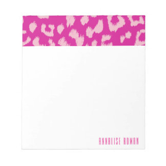 Magenta and Pink Leopard Print Notepad