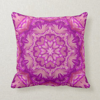 Magenta and Pink Victorian Floral Cushion
