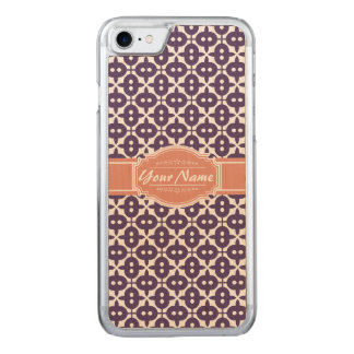 Magenta and Salmon Decorative Clover Carved iPhone 8/7 Case