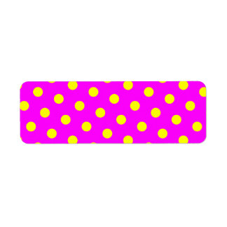Magenta and Yellow Polka Dots