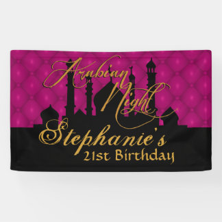 Magenta, Arabian Nights Themed Banner