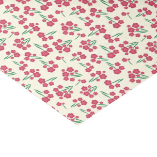 Magenta Bubble Flower Pink Spring Floral Pattern Tissue Paper