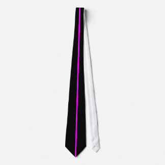 Magenta Centered Thin Vertical Line on Black Tie