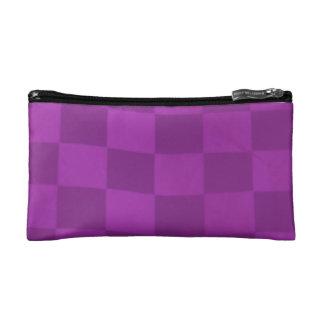 Magenta Checkered Flag Bag Cosmetics Bags