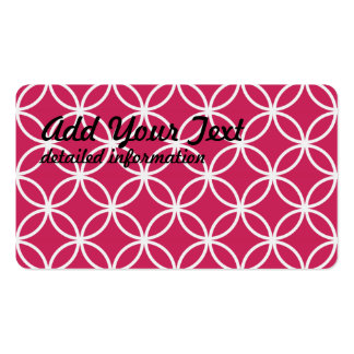 Magenta Circular Pattern Business Card Templates