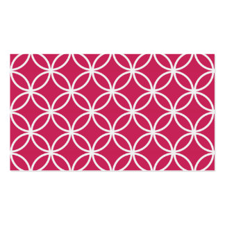 Magenta Circular Pattern Pack Of Standard Business Cards