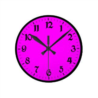 Magenta Clock with Big Numbers