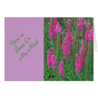 MAGENTA COLORED LUPINE FLOWER NOTE CARD