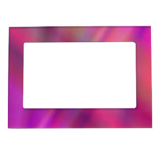 Magenta colorful abstract magnetic picture frame