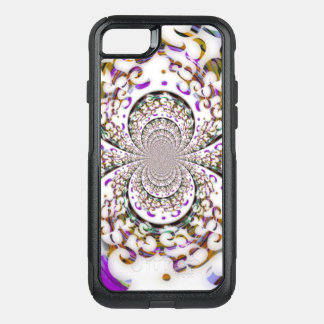 Magenta Curves and Swirls OtterBox Commuter iPhone 7 Case