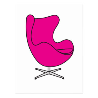 Magenta Egg-chair Postcard