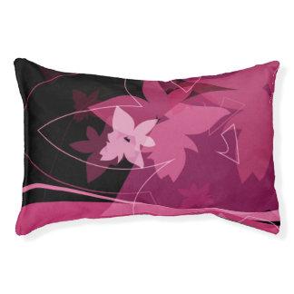Magenta Floral Pattern Pet Bed