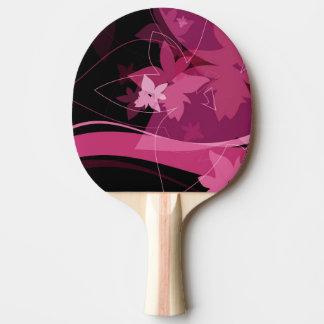 Magenta Floral Pattern Ping Pong Paddle