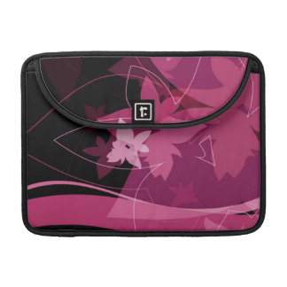 Magenta Floral Pattern Sleeve For MacBooks