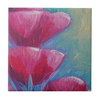 MAGENTA FLOWERS TILE