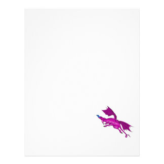 Magenta Flying Dragon 21.5 Cm X 28 Cm Flyer