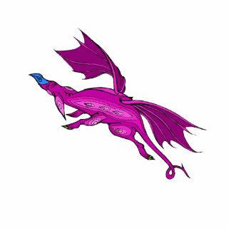 Magenta Flying Dragon Photo Cutouts
