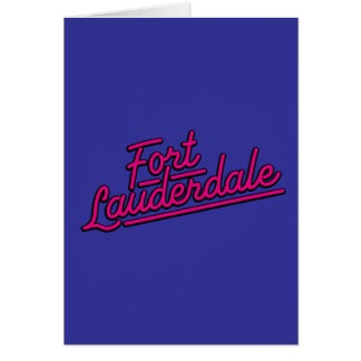 magenta Fort Lauderdale Greeting Cards