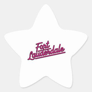 magenta Fort Lauderdale Star Sticker