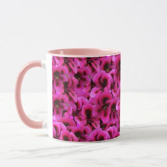 Magenta Geranium Flower Pink Combo Coffee Mug
