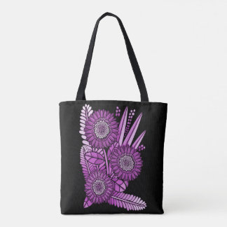 Magenta Gerbera Daisy Flower Bouquet Tote Bag