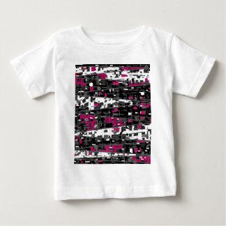 Magenta, gray and white decorative art baby T-Shirt