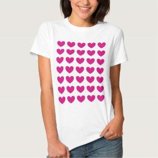 Magenta Heart Tee Shirts
