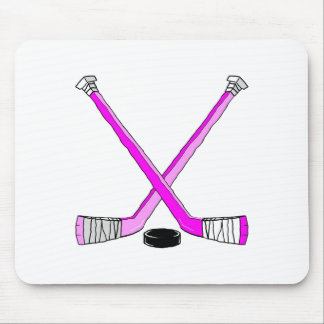 Magenta Hockey Mouse Mat