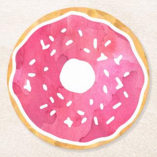 Magenta Hot Pink Donut Coasters