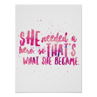Magenta inpsirational quote poster