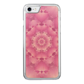 Magenta Kaleidoscope iPhone 6 Wood Carved iPhone 8/7 Case