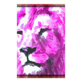Magenta Lion Stationery Paper