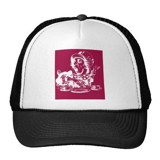 Magenta Mad Hatter Mesh Hat