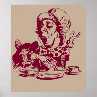 Magenta Mad Hatter Poster