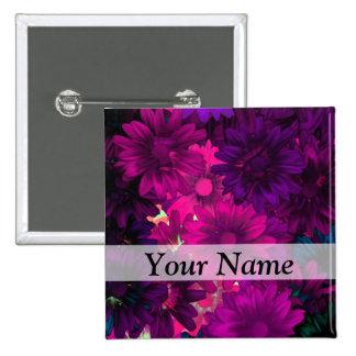 Magenta modern floral pins