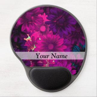 Magenta modern floral gel mouse pads