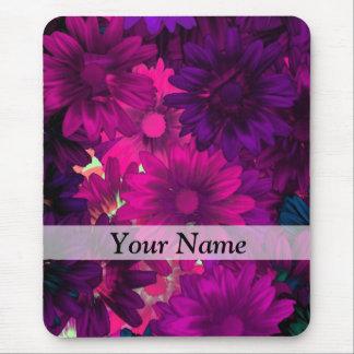 Magenta modern floral mousepad