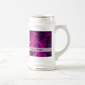 Magenta modern floral mugs