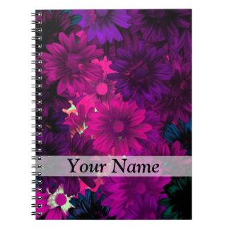 Magenta modern floral notebooks