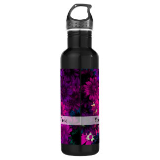 Magenta modern floral 710 ml water bottle