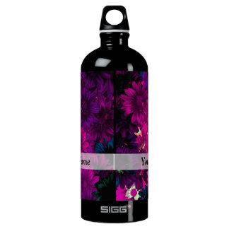 Magenta modern floral SIGG traveller 1.0L water bottle