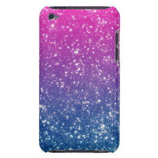 Magenta Ombre Glitter Barely There iPod Case