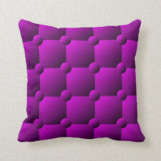 Magenta padded quilt pattern throw pillow