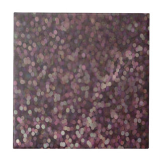 Magenta Painted Glitter Shimmer Small Square Tile