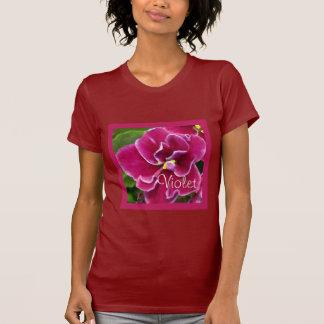 Magenta Painted Violet T-shirt