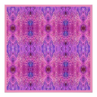 Magenta Pink and Purple Abstract Poster