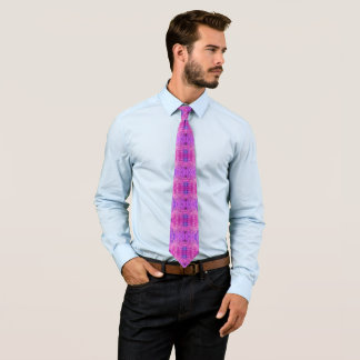 Magenta Pink and Purple Abstract Tie