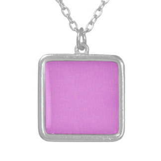 Magenta Pink Faux Linen Fabric Textured Background Necklaces