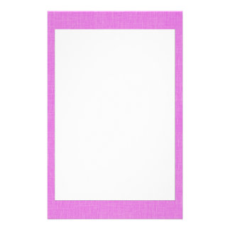 Magenta Pink Faux Linen Fabric Textured Background Personalized Stationery