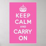 Magenta Pink Posters
